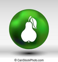 Pear logo fruit diet leaf dieting health food
