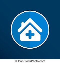 Medical hospital sign icon. Home medicine symbol.