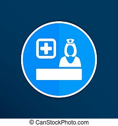 icon doctor closeup medical graphic design vector illustration
