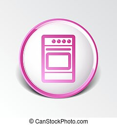 stove icon fuel hob meal electric blaze plate kitchen .