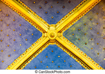 ceiling with gold stars - antique ceiling with gold stars