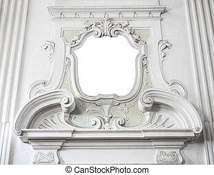 neo, villa, classico, bordo, cornice, Ornamento, suitable,...