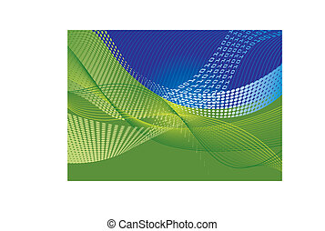 Data transfer abstract background with halftone effect and...