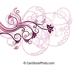 Floral design element 1 - Beautiful purple and pink floral...