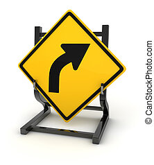 Road sign - turn right