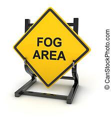 Road sign - fog area