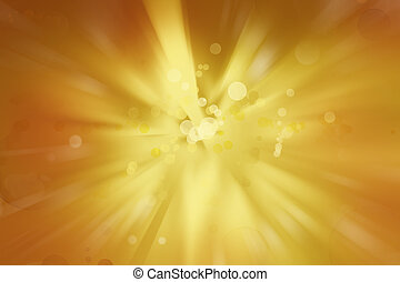 Explosive background - Bright explosion. Circles on yellow...