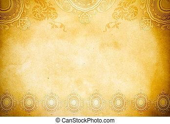 Vintage paper background - Old grunge paper backdrop with...