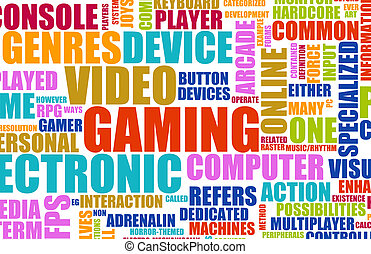 Video Games Entertainment Abstract as a Art