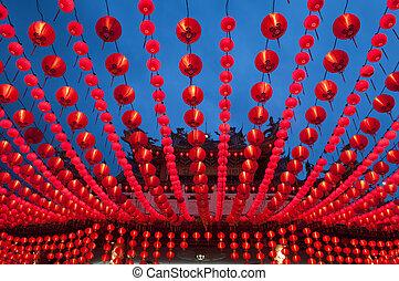 Lanterns. - Oriental lanterns display at temple.