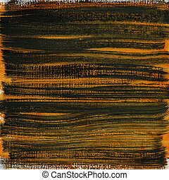 orange and black watercolor abstract on canvas