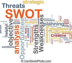 SWOT word cloud - Word cloud concept illustration of SWOT...
