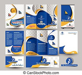 School Business Stationery Set Template