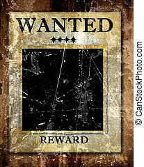 wanted - old wanted paper with some stains and spots on it