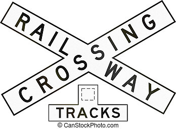 Railway Crossbuck With Number Of Tracks In Australia - An...