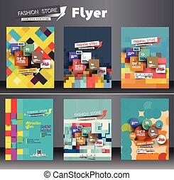 Fahion Shopping Center Flyer - Set of Fahion Shopping Center...