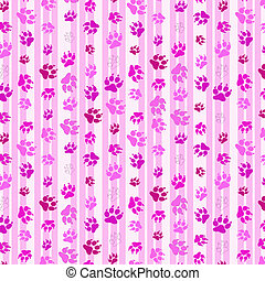 abstract background for desktop with pink cat footprints or...