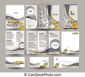 Jockey Competition Business Stationery Set Template