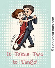 Tango - Idiom illustration of it takes two to tango