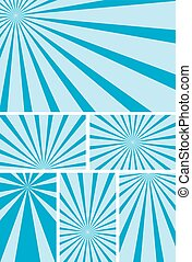 blue backgrounds with radial rays
