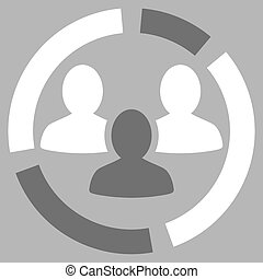 Demography diagram icon from Business Bicolor Set