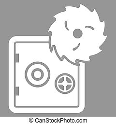 Hacking theft icon from Business Bicolor Set Vector style is...