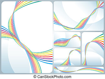 Rainbow Flowing - Rainbow colors flowing Corporate identity...