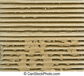 Ribbed cardboard - Textured ribbed striped cardboard with...