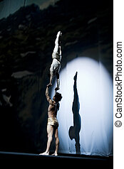 acrobatics performing mens gymnastics - acrobatics...