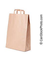 Brown paper bag with handles - brown paper shopping bag with...