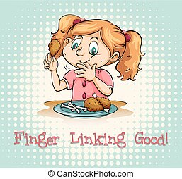 Idiom saying finger linking good