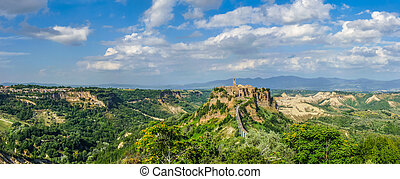 Civita di Bagnoregio, Lazio, Italy - Beautiful view of...