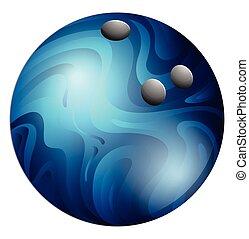 Bowling ball - Single bowling ball with blue pattern