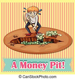 Money pit - English idiom saying a money pit