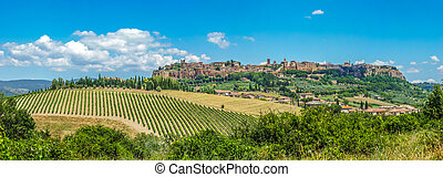 Old town of Orvieto, Umbria, Italy - Beautiful view of the...