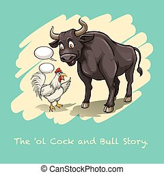English idiom - Idiom saying the old cock and bull story