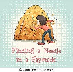 Haystack - Finding a needle in a haystack