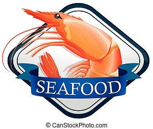 Shrimp - Fresh shrimp on the banner