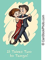 Tango - English idiom it takes two to tango