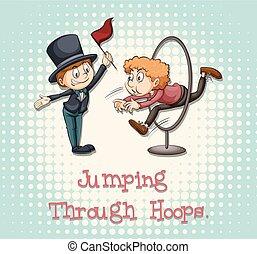 Idiom saying jumping through hoops