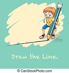 Draw the line - Idiom saying draw the line