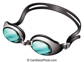 Goggle - Swimming goggle with blue lens