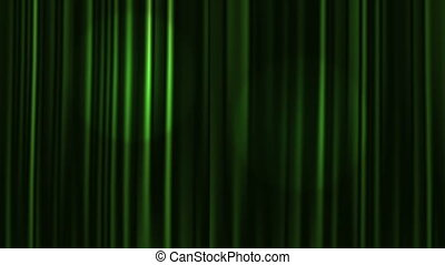 Curtains Open - Green Curtains Open with Spotlights plus...