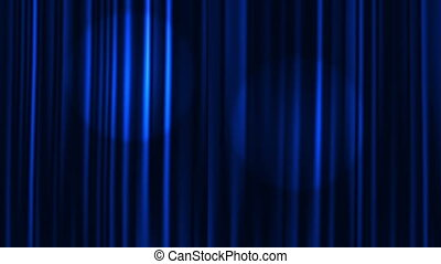 Curtains Open - Blue Curtains Open with Spotlights plus...