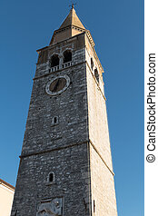 Bell tower in istrian village