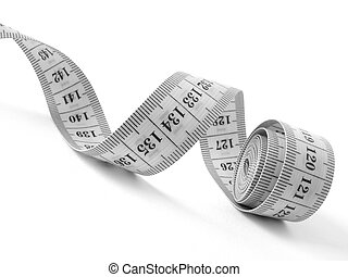 measuring tape - curved measuring tape fragment in black and...