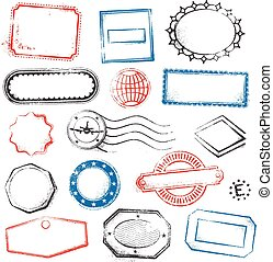 High Detail Generic vector Stamps - A high detail set of...