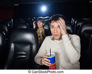 Terrified People Watching Film