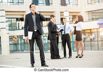 Young Businessman With A Vision - Young businessman standing...