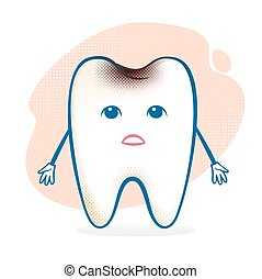 Sick tooth character.
